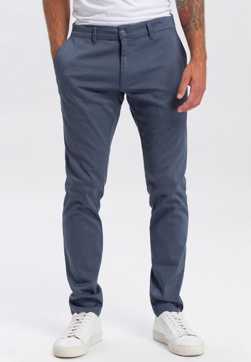 Cross Jeans - Chinos - blau-strukturiert