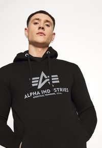 Alpha Industries - BASIC HOODY REFLECTIVE  - Luvtröja - black - 3
