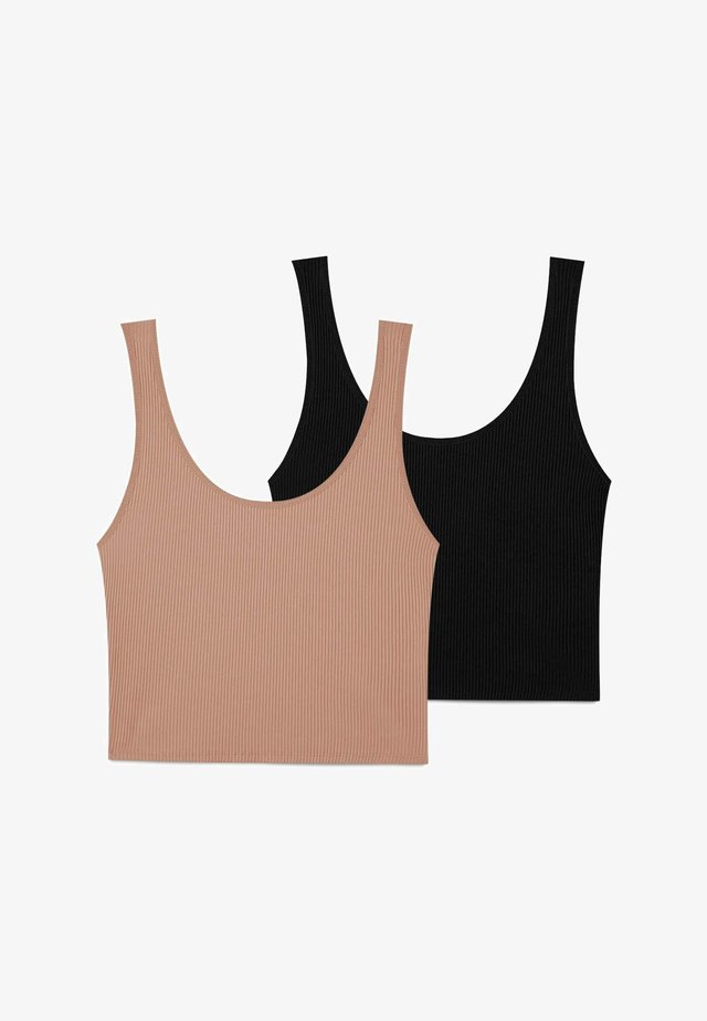 2 PACK - Top - beige