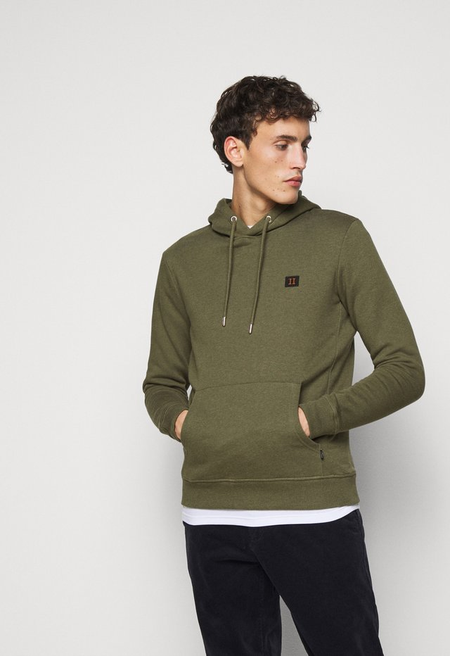 PIECE HOODIE - Hoodie - dark green melange/dark navy
