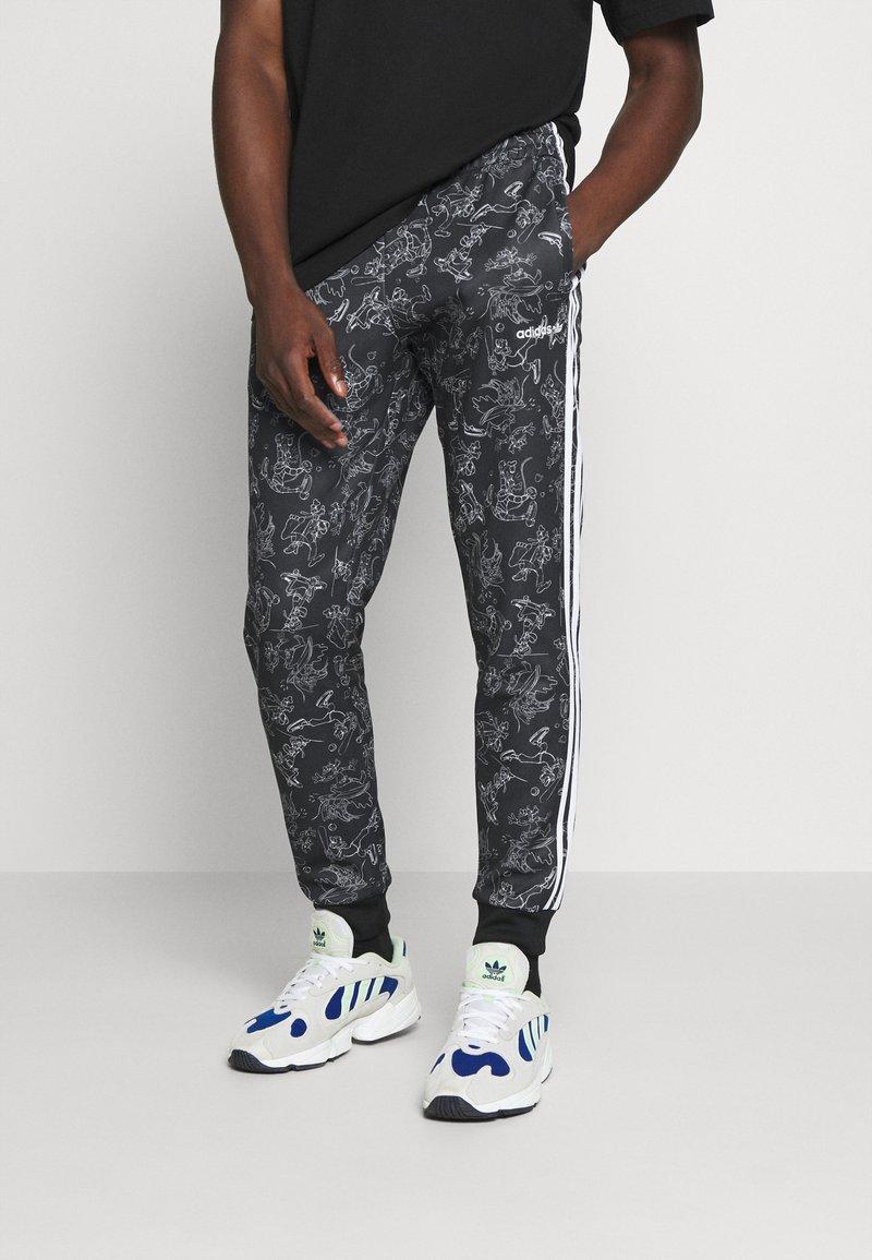 adidas Originals - GOOFY - Tracksuit bottoms - black/white