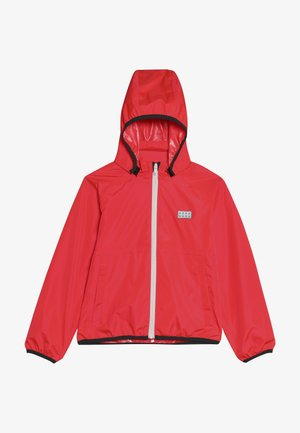 JOSHUA JACKET PACKABLE - Hardshellová bunda - coral red