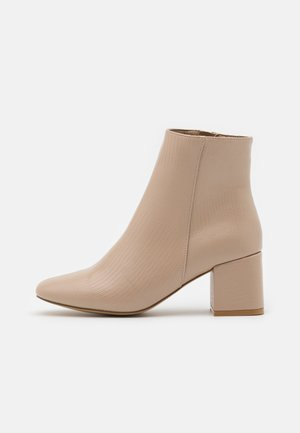 BYRON ROUND TOE MID BLOCK - Ankle boots - oatmeal