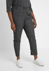 ONLY Carmakoma - Trousers - black/checks - 0
