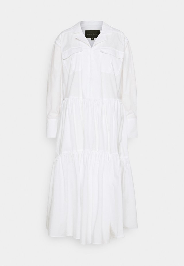 TRINE DRESS - Vestido camisero - white
