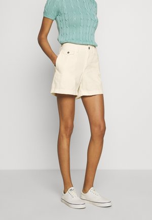 SLIM SHORT - Shorts - warm white