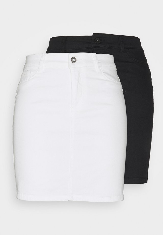 VMHOTSEVEN SKIRT 2 PACK - Pencil skirt - black/bright white