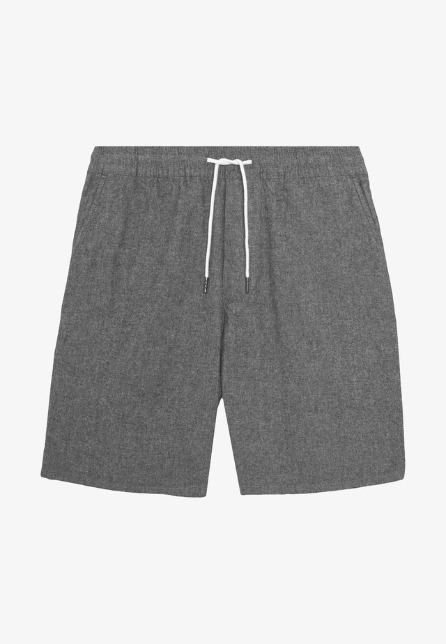 CHAMBRAY DRAWSTRING - Shorts - black mix