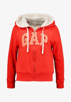SHERPA - Zip-up hoodie - killer tomato