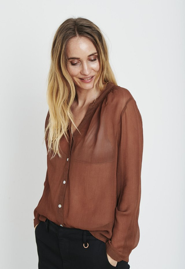 Button-down blouse - bison