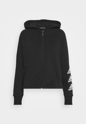 STACKED  - Zip-up hoodie - black