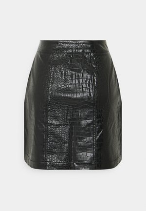 CROCO SKIRT - A-line skjørt - black