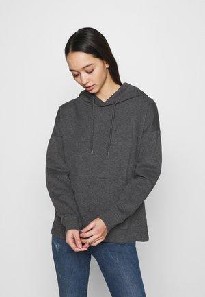 Hoodie - dark grey melange