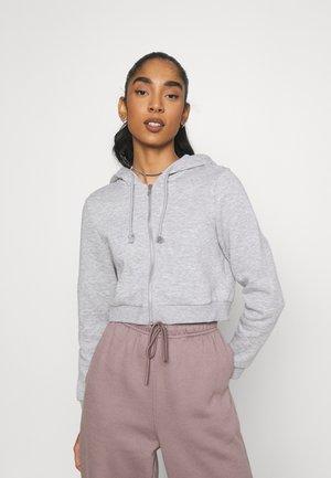 JOANNA HOODIE - Zip-up hoodie - grey melange