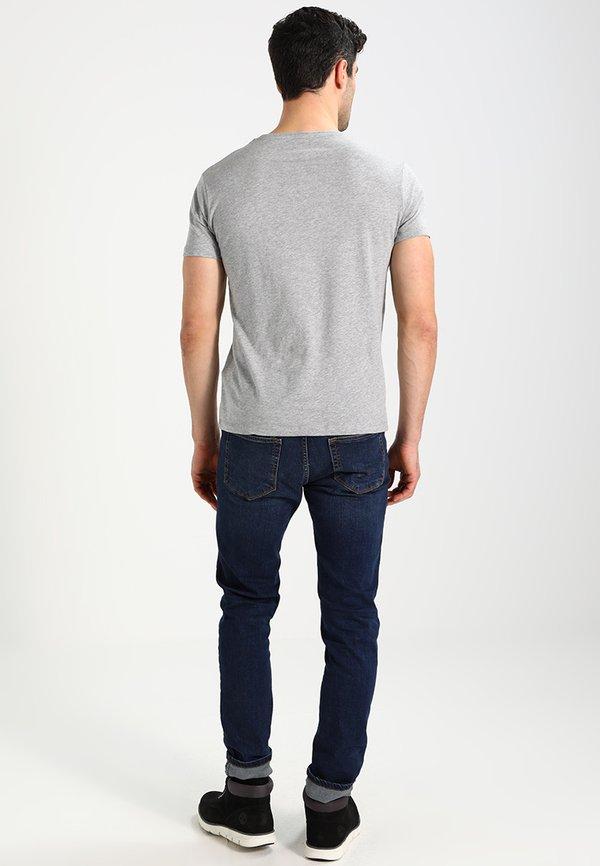 Timberland CREW CHEST - T-shirt basic - grey heather/szary Odzież Męska YZQW