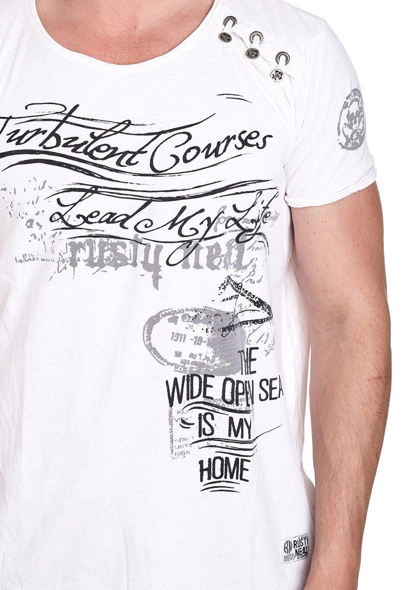 Rusty Neal - Print T-shirt - weiß
