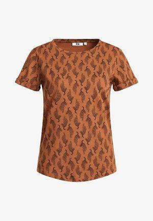 MET LUIPAARDDESSIN - T-shirts print - cognac