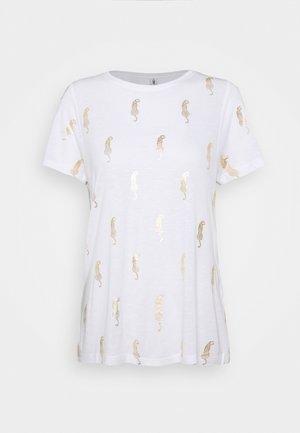 ONLBELIS LIFE - Print T-shirt - bright white