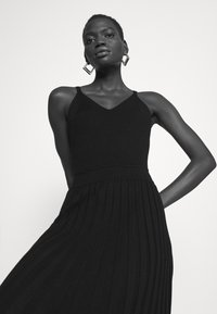 Milly - CAMI TOP PLEATED MIDI DRESS - Cocktail dress / Party dress - black - 3