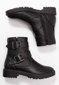 Even&Odd - Cowboy/biker ankle boot - black - 3