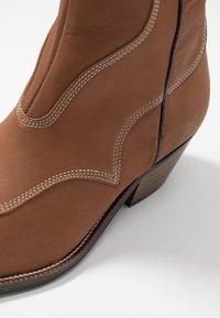 Shoe The Bear - ARIETTA - Cowboy/biker ankle boot - brown - 2