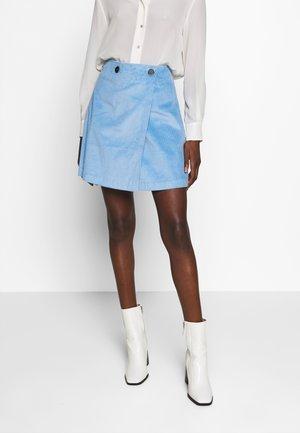 SLFEMILY WRAP SKIRT - Mini skirt - della robbia blue