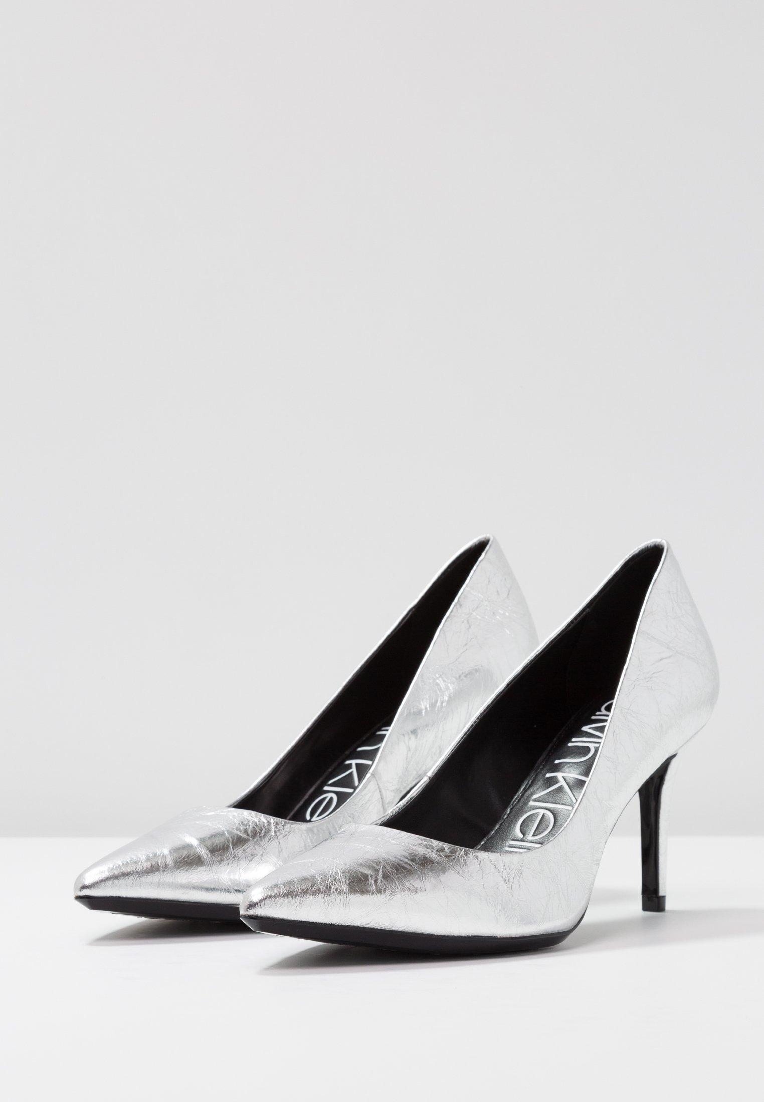 Último descuento Calvin Klein GAZELLE - Tacones - silver | Calzado de mujer2020 6v4YP
