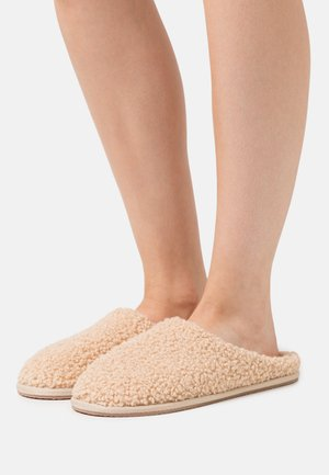 FURRY FRIEND FLAT - Tohvelit - beige