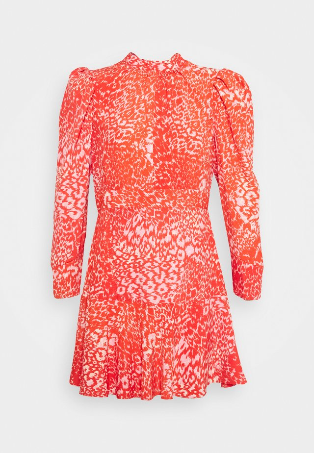 HIGH NECK MINI DRESS - Day dress - pink