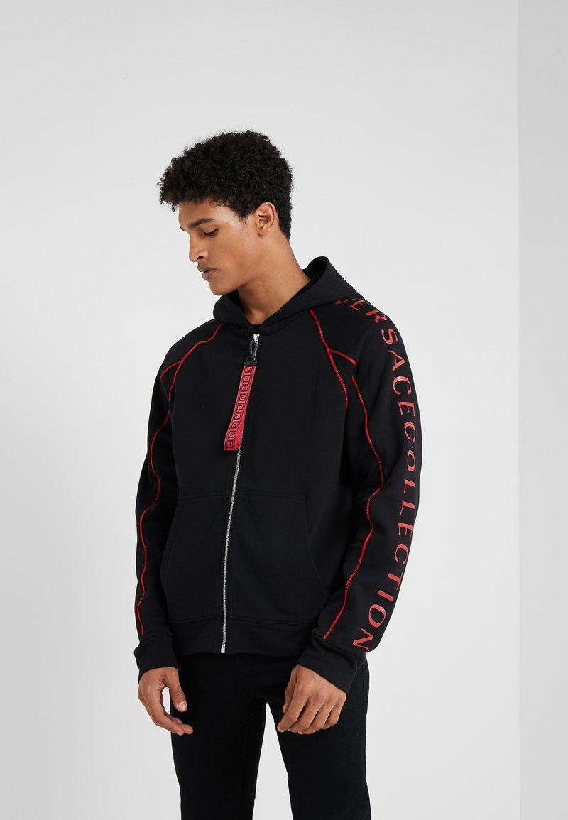 Versace Collection - SPORTIVO FELPA CON CAPPUCCIO - Zip-up hoodie - nero