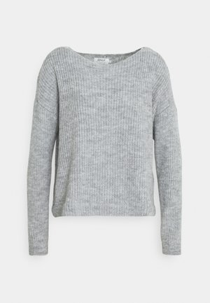 ONLJADE MIX  - Jumper - light grey melange/cloud dancer