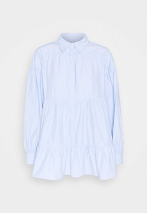 TIERED - Button-down blouse - blue