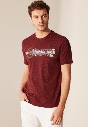 T-Shirt print - maroon