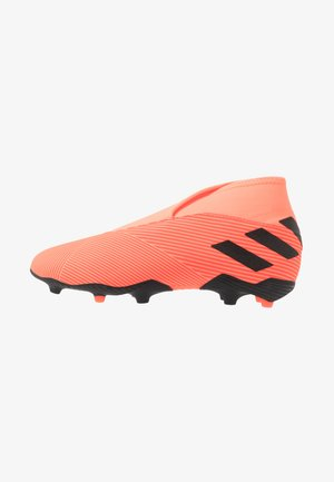 NEMEZIZ 19.3 FG - Chaussures de foot à crampons - signal coral/core black/solid red