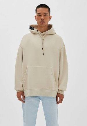 Hoodie - mottled beige
