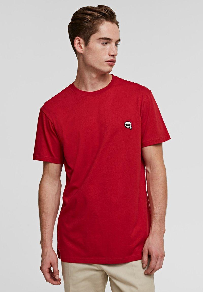 KARL LAGERFELD - IKONIK - Basic T-shirt - red