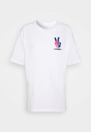 WOMENS MULTI PEACE OVERSIZED TEE - Print T-shirt - white