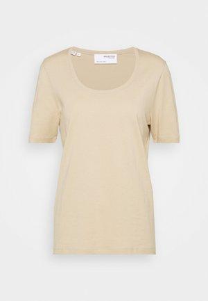 SLFSTANDARD TEE - Basic T-shirt - white pepper