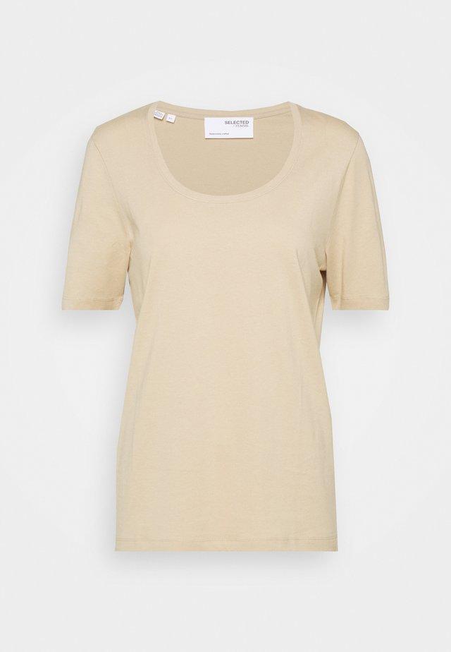 SLFSTANDARD TEE - T-shirt basic - white pepper