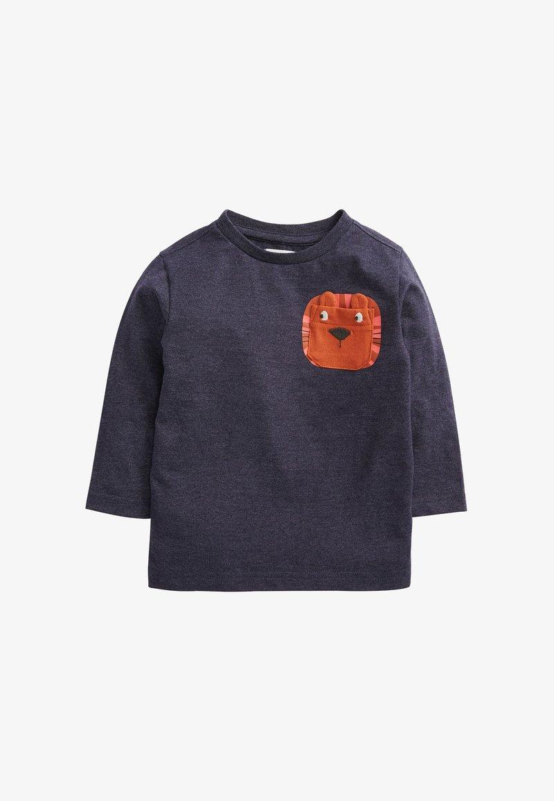 Next - LION POCKET - Print T-shirt - blue