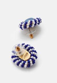 J.CREW - STRISCE BEADED STUD EARRINGS - Earrings - navy - 1