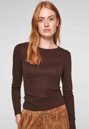 Long sleeved top - dark chocolate