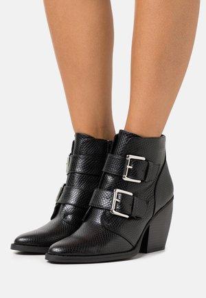 CALISTA - Kotníková obuv na vysokém podpatku - black
