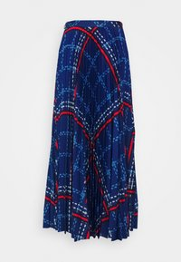 GANT - SIGNATURE WEAVE PLEATED SKIRT - Maxi skirt - crisp blue - 0