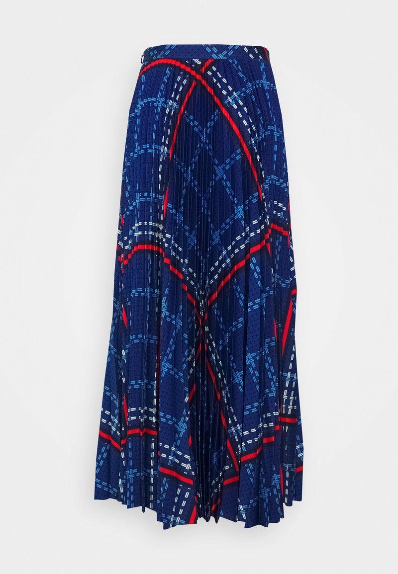 GANT - SIGNATURE WEAVE PLEATED SKIRT - Maxi skirt - crisp blue
