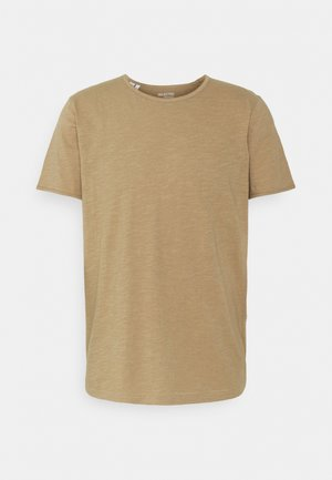 SLHMORGAN O-NECK TEE - T-shirt basique - petrified oak