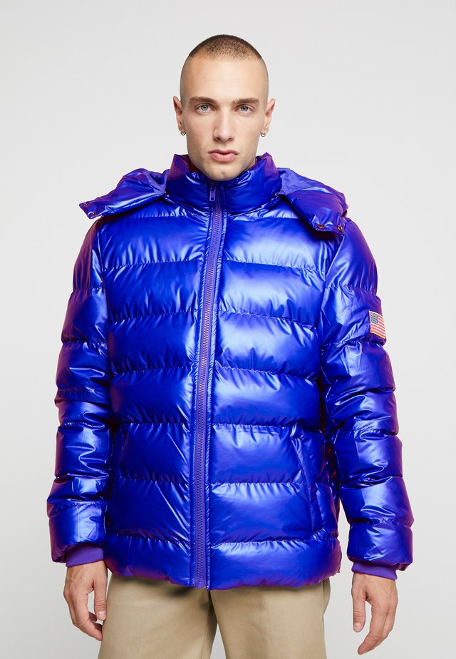 NASA INSIGNIA METALLIC PUFFER JACKET - Giacca invernale - blue