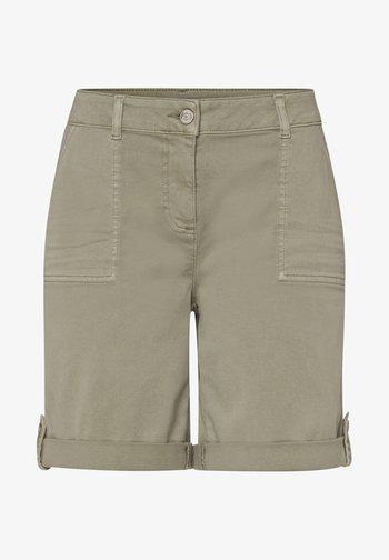 Denim shorts - sage