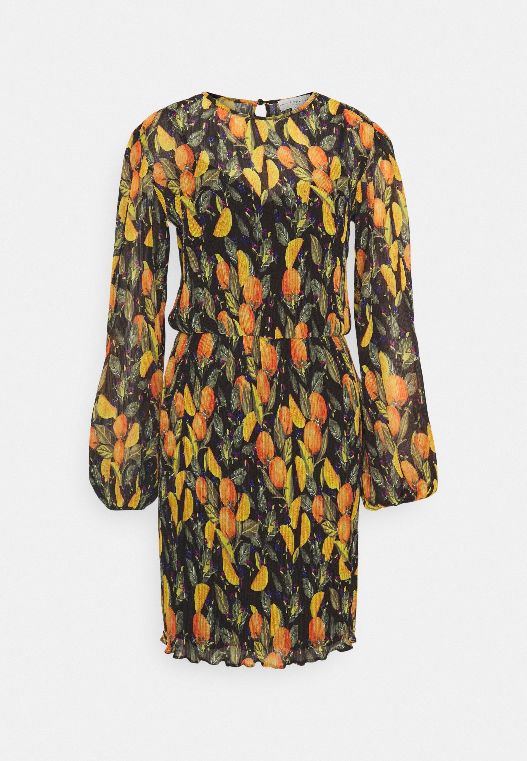 Women ORANGES MINI DRESS - Shift dress