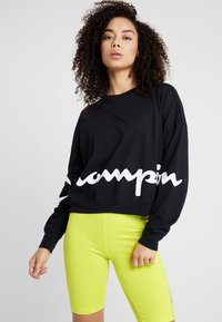 Champion - CREWNECK - Long sleeved top - black - 0
